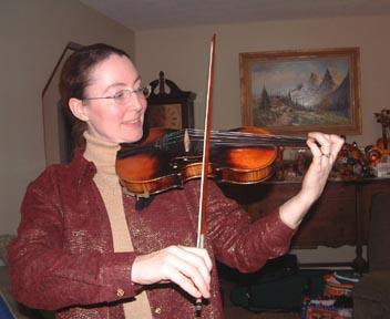 Good violin playing position